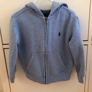 Like new boys Ralph Lauren Polo zip up hoodie